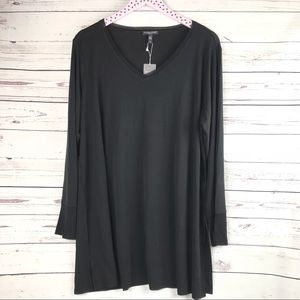Eileen Fisher Silk V-Neck Tunic